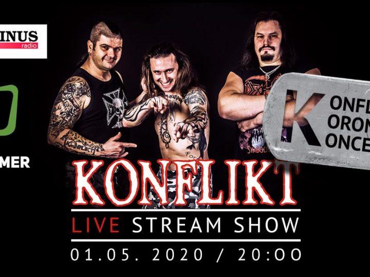 Najznámejšie slovenské rockové kluby, festivaly a webstránky sa spájajú a prinášajú live stream koncert Konfliktu!
